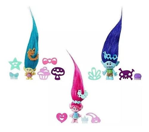 trolls branch - cabello flexible y extensible - vavi toys