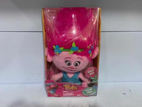 trolls poppy de pelúcia falante hasbro b7772
