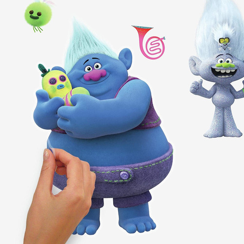 trolls world tour peel and stick wall decals