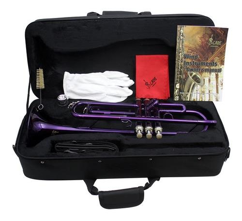 trompeta bb b plana latn exquisito con boquilla de cepillo