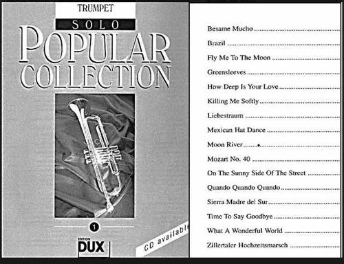 trompeta colección de lujo pistas y partituras, lo mejor