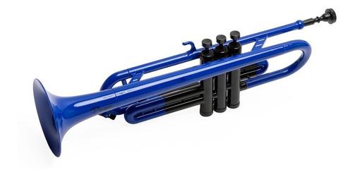 trompeta de plastico bb parquer azul liviana funda
