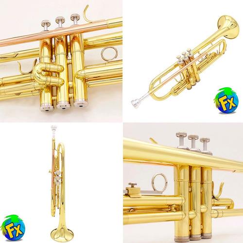 trompeta dorada envio gratis + estuche boquilla profesional