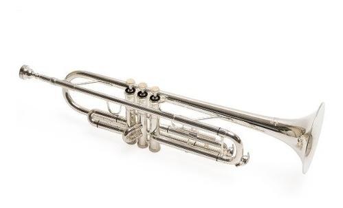 trompeta parquer custom bb si bemol plateada plata estuche
