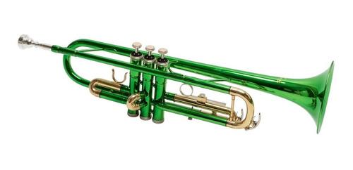 trompeta parquer custom si bemol metal  verde estuche cuota