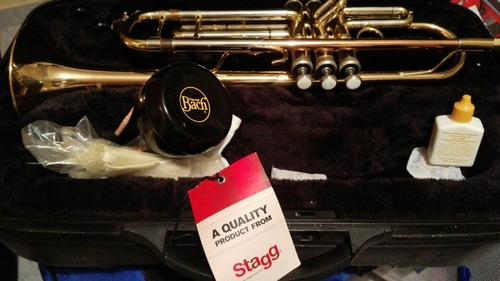 trompeta profesional nueva marca stagg 77 thg