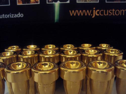 trompete  , bocal stc1 gold para trompete
