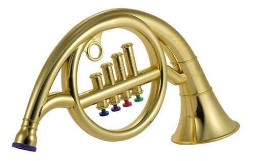trompete infantil acustico instrumento musical 4 botoes