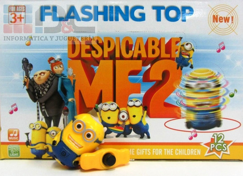 trompo despicable me minion cars rayo angry birds luz sonido