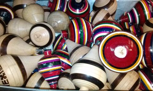 trompo jumbo juguete juego madera tipico mexicano 20 cms