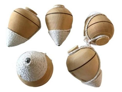 trompo madera torneada punta metalica trompos c/ piolin baum