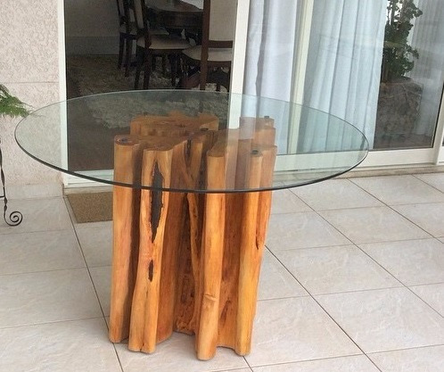 Tronco de guarant base de mesa r tica demoli o r - Mesa de tronco ...