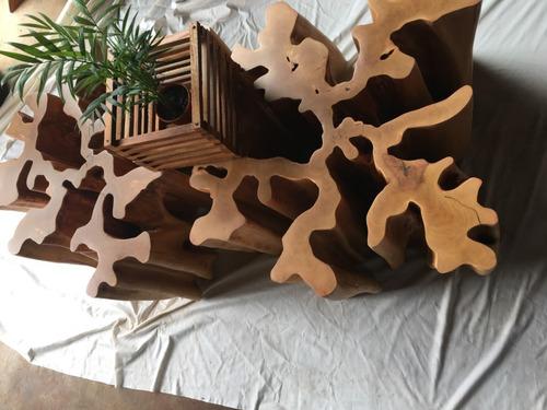 tronco de guarantã, base para mesa de centro