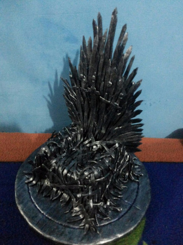 trono de ferro-game of thrones-iron throne, artesanal, 25 cm