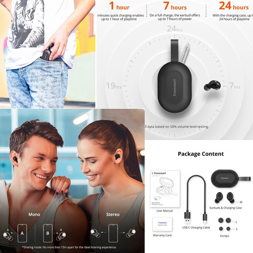 tronsmart audifonos bluetooth 5.0 spunky beat touch ipx5