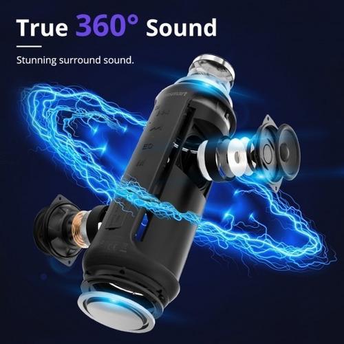 tronsmart parlante bluetooth 40w portatil acuatico t6 plus