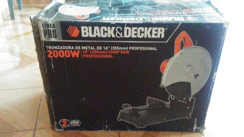 tronzadora 14  black and decker