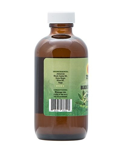 tropic isle living aceite de ricino negro jamaicano con sal