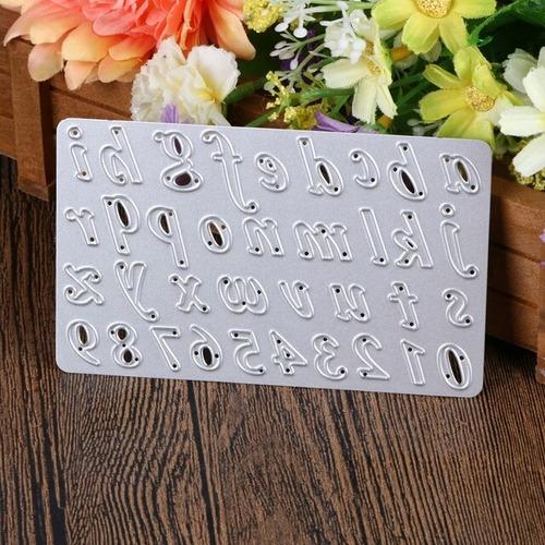 troquel alfabeto minúscula+números,scrapbook,papel,manualida