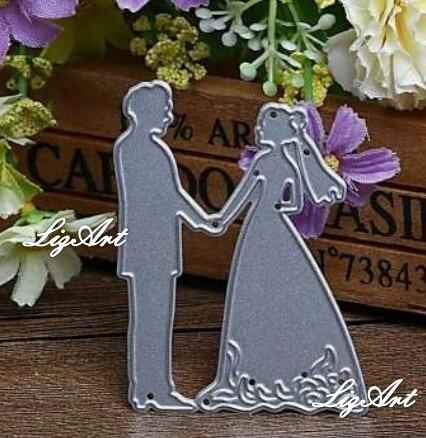 troquel novios,boda,casamiento,scrapbook,tarjetas,invitacion