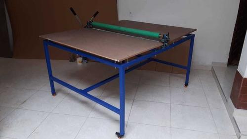 troqueladora manual de rodillos 120 cm área  trabajo 85x150