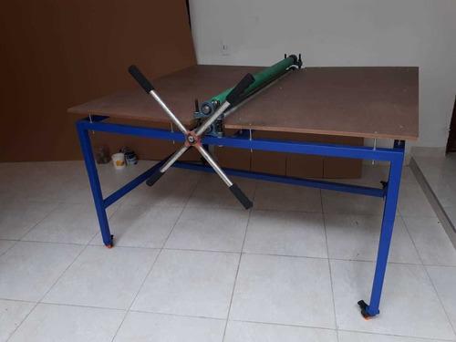 troqueladora manual de rodillos 120 cms