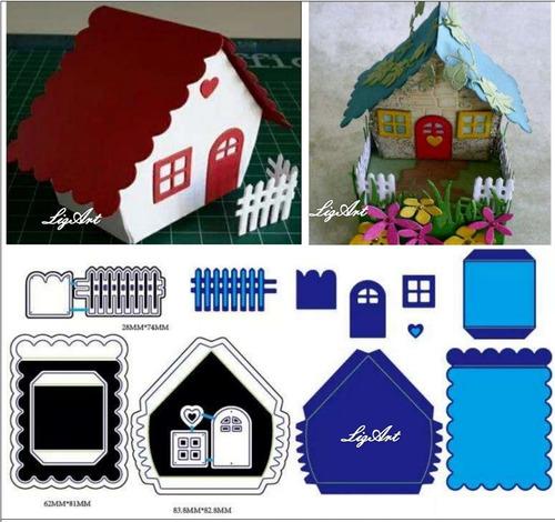 troquel,scrapbook,casa 3d,navidad,nacimiento,big shot,manual