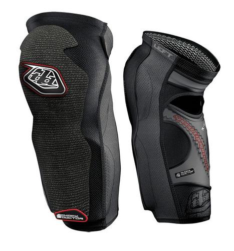 troy lee designs 5450 largo de la rodilla/espinilleras negro