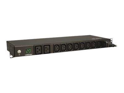 trp pdu 1u 8(c13) 2(c19) 3.8kw 3,6m medidor digital