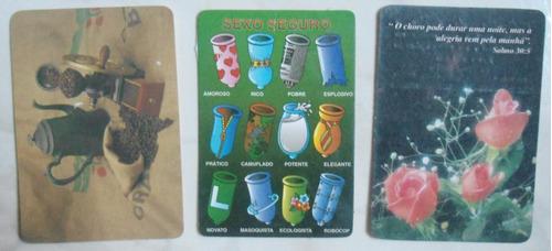três calendários de bolso antigos e decorados frete 10 reais