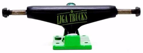 truck liga tradicional 129 logo fonte preto/ verde