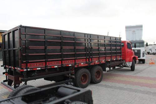 truck mb 1621 1992 6x2 carroceria grade alta 7,7 metros