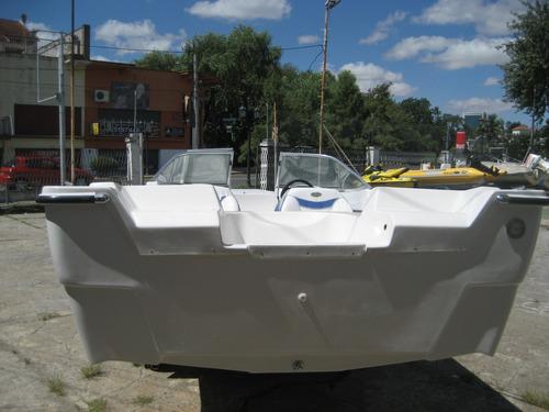 trucker 5.50 mts.open con parabrisas olympic marine 2020