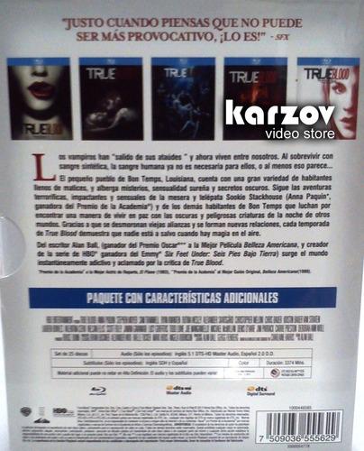 true blood boxset con las temporada 1 2 3 4 y 5 en blu-ray