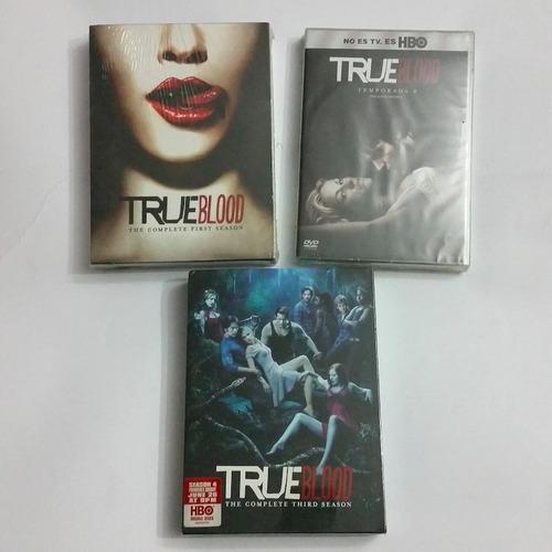 true blood dvd temp 1, 2 y 3 original nuevas selladas