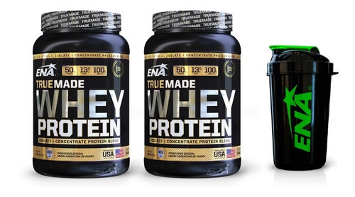 true made ena whey protein 2kg - envío gratis + shaker