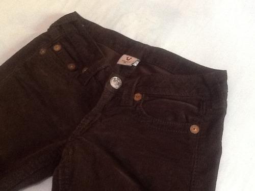true religion pantalon de pana para dama talla 26