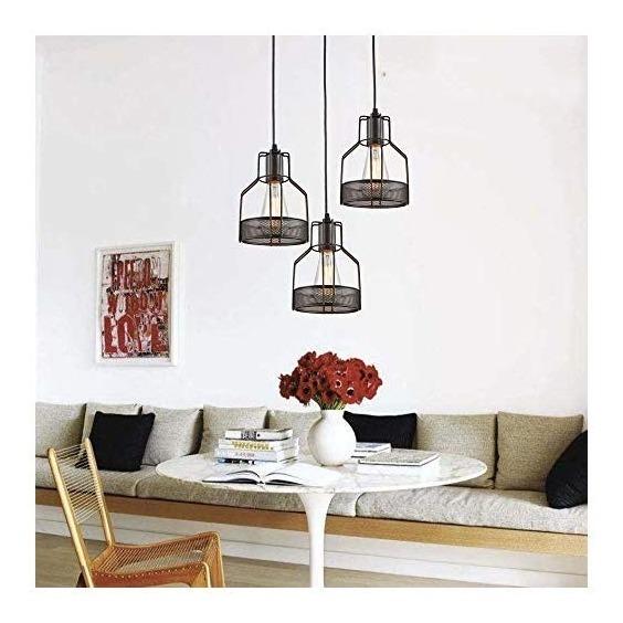 Truelite Industrial Luz Colgante De 3 Luces Para Comedor, Es