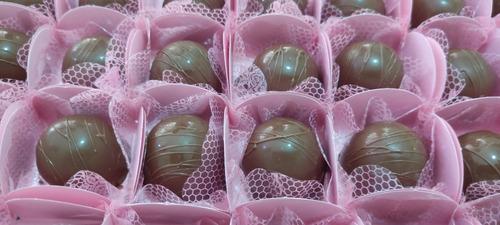 trufas com recheio de nutella / 100 unidades