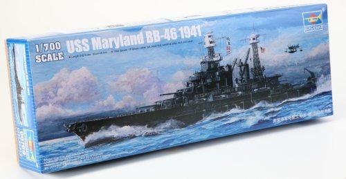 trumpeter bb46 uss maryland battleship modelo de barco 1941