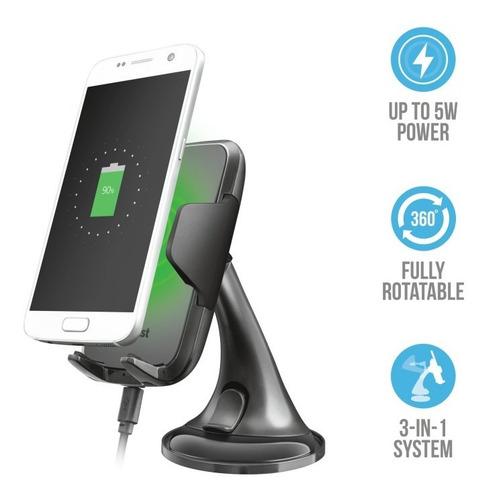 trust yudo soporte de carga inalámbrica para smartphone