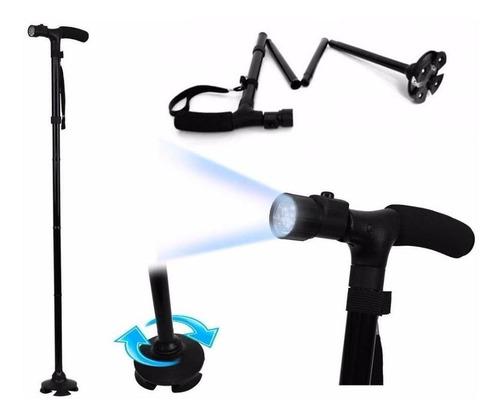 trusty cane baston plegable ajustable linterna led 5 niveles