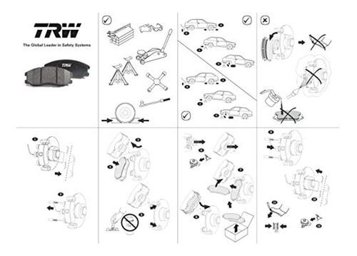 trw automotive tpc1473 juego de pastillas