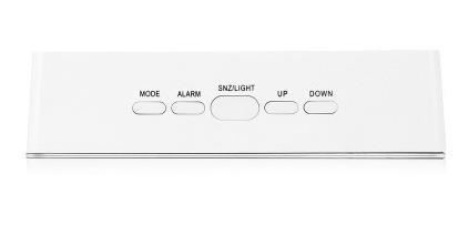 ts - s70 led reloj espejo de tiempo / pantalla de temperatur