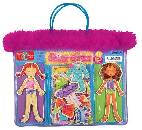 t.s. shure daisy chicas de madera magnético vestir muñecas
