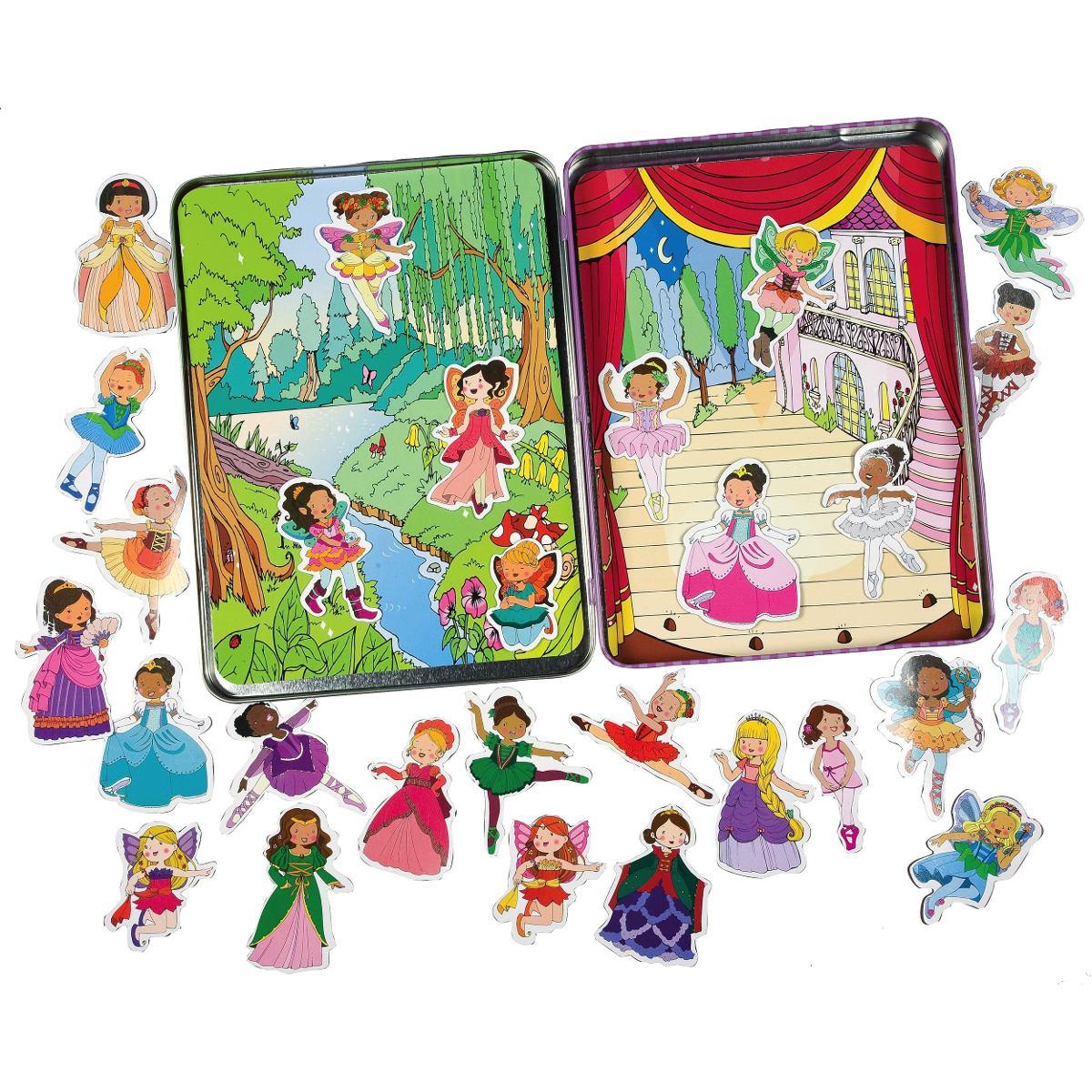 T.S. Shure Princesas, Hadas y Ballerinas magnético juego de lata