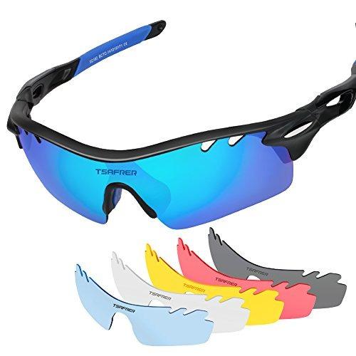 tsafrer polarized gafas de sol deportivas con 6 lentes inter