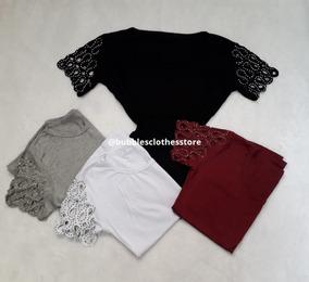 8183527302 Tshirt Blusa Camiseta Detalhe Mangas Brilhos Pedrinhas Furos
