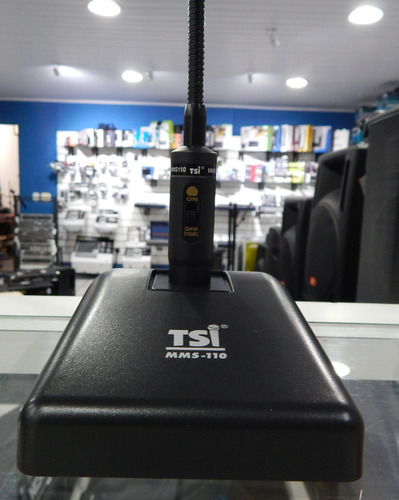 tsi microfone de mesa mms-110 novo