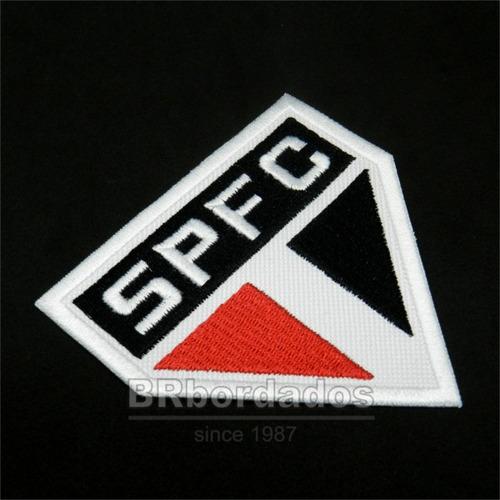 tsp050 escudo são paulo time futebol sp patch bordado 9x9cm